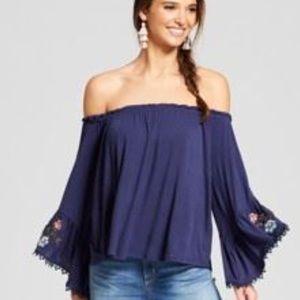 Tops - Boho Off the Shoulder Blouse